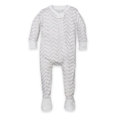 a68226d1ee8b Burt s Bees Baby Size 18M Organic Cotton Chevron Footed Pajama In ...