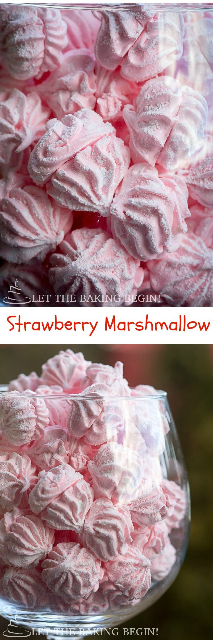 Strawberry Marshmallow -naturally gluten free, light and airy these little confections are perfect for parties, or as a light dessert treat after dinner. by LetTheBakingBeginBlog.com | @Letthebakingbgn