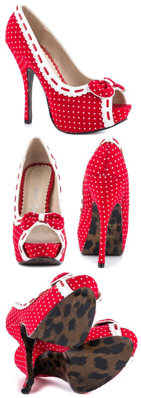 Bettie Page's Multi-Color Gwendolyn - Red White
