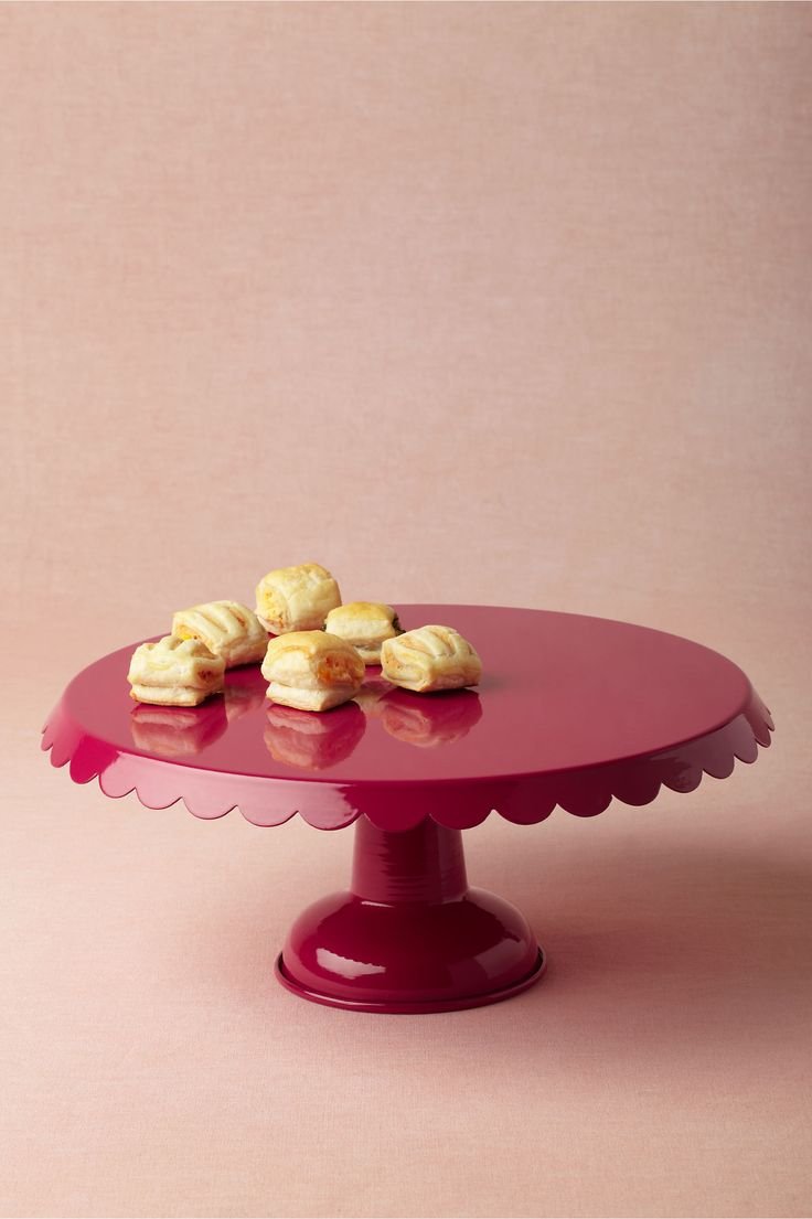 Scalloped Cake Stand, Raspberry from BHLDN