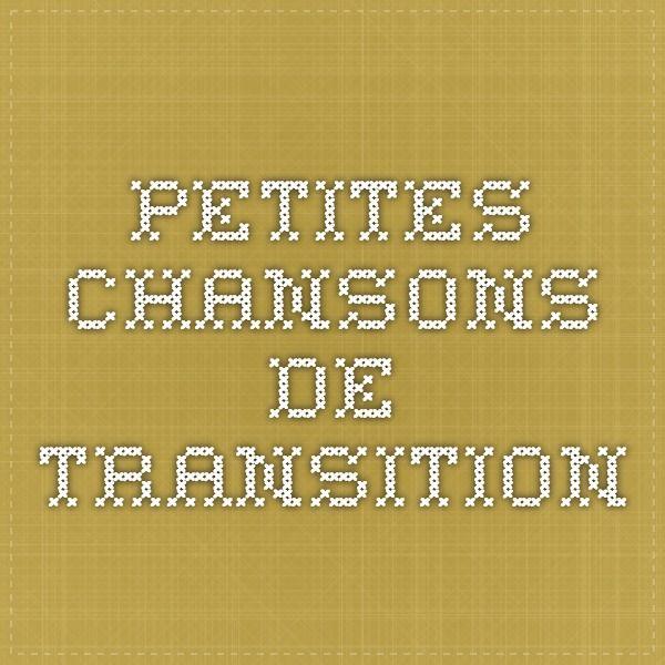 Petites chansons de transition