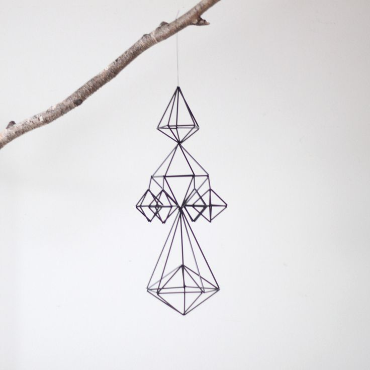 jocundist: modern hanging mobile made from straws