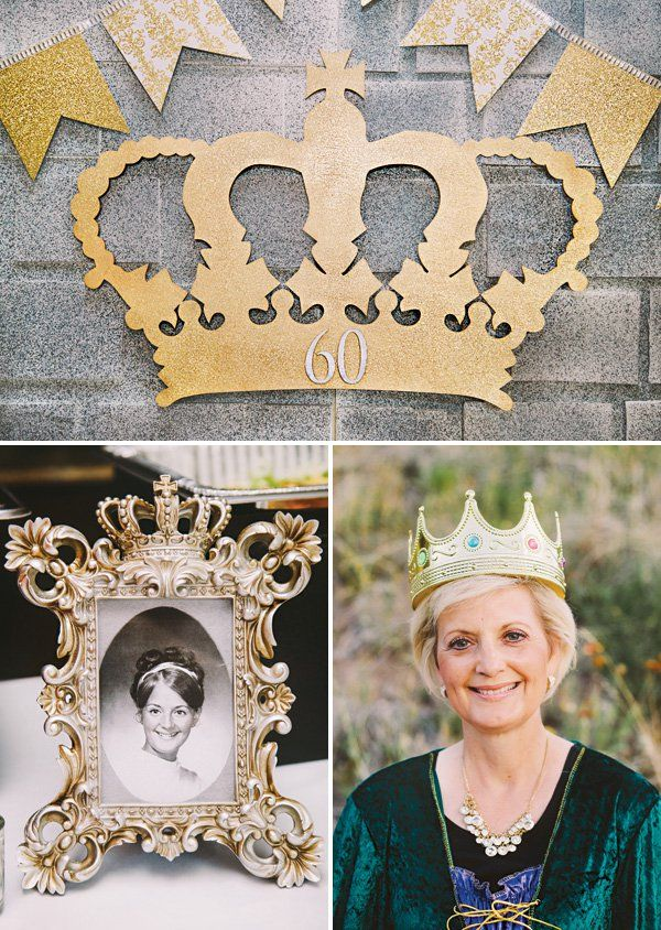royal gold crown 60th birthday party