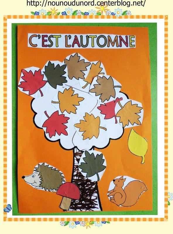 Arthur a réalisé un arbre d'automne avec les gommettes