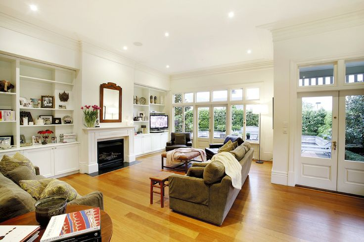 Living room, open plan, fireplace, white walls, family living  Home renovation, Constructed by Classic Projects