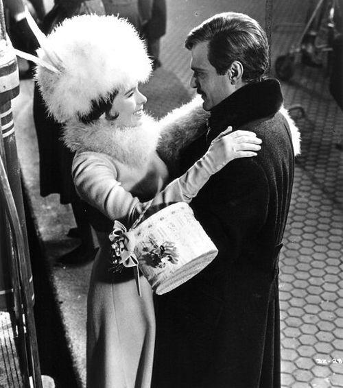 "Omar Sharif, Geraldine Chaplin in ""Doctor Zhivago"" (1965). Director: David Lean."