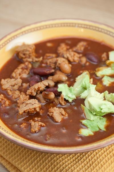 Turkey Three-Bean Chili | {Recipes} Soup | Pinterest