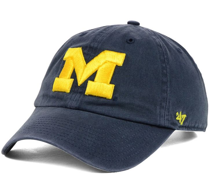 Step out with Michigan Wolverines pride in a '47 Brand NCAA Clean-Up cap, featuring an embroidered team logo at front. The adjustable pull-through strap is a convenient way to adjust the cap for a snu