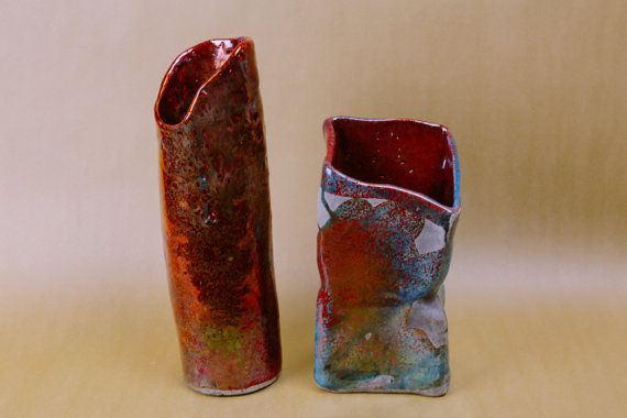 Rhetorical Reds ceramic vase set