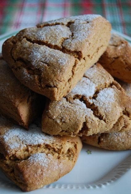 Gingerbread Scones   8 servings      2 cups flour  3 tablespoons brown sugar  2 teaspoons baking powder  1 teaspoon ground ginger  1/2 tea...
