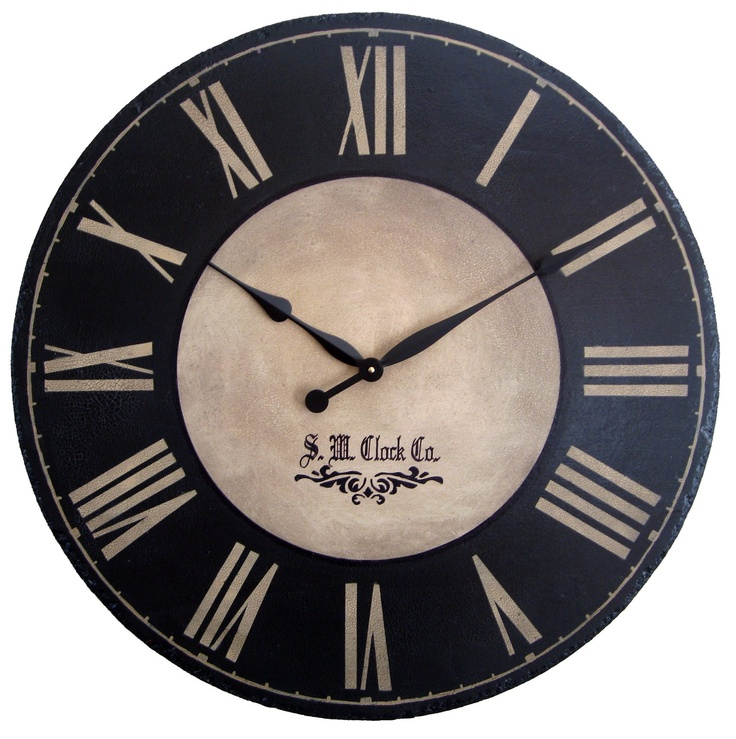 Large Wall Clock 36 inch Port Royal  Antique style by Klocktime, $178.00