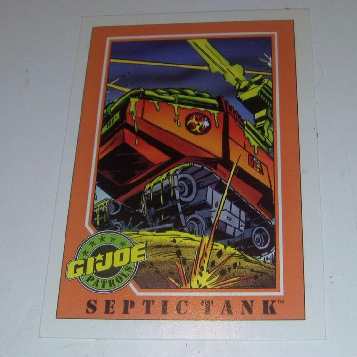 ITEM gi joe septic tank Trading card from Impel 1991 Hasbro Series 6 DESCRIPTION Excellent SIZE Standard card SHIPPING WEIGHT 10 GRMS i can send several at same price