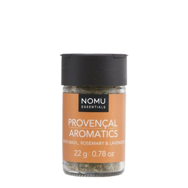 NOMU Spice Blends - Provencal Aromatics: A mild and fragrant blend of herbs to add French accents to your dishes. Combine with olive oil and drizzle over diced butternut before oven roasting.