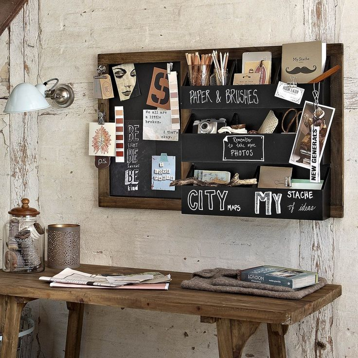 Design Vintage   Blackboard Organiser   Blackboard Shelving