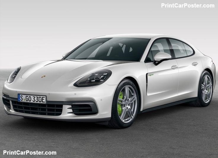 porsche panamera 4 e hybrid 2017 poster - Porsche Panamera Black And White
