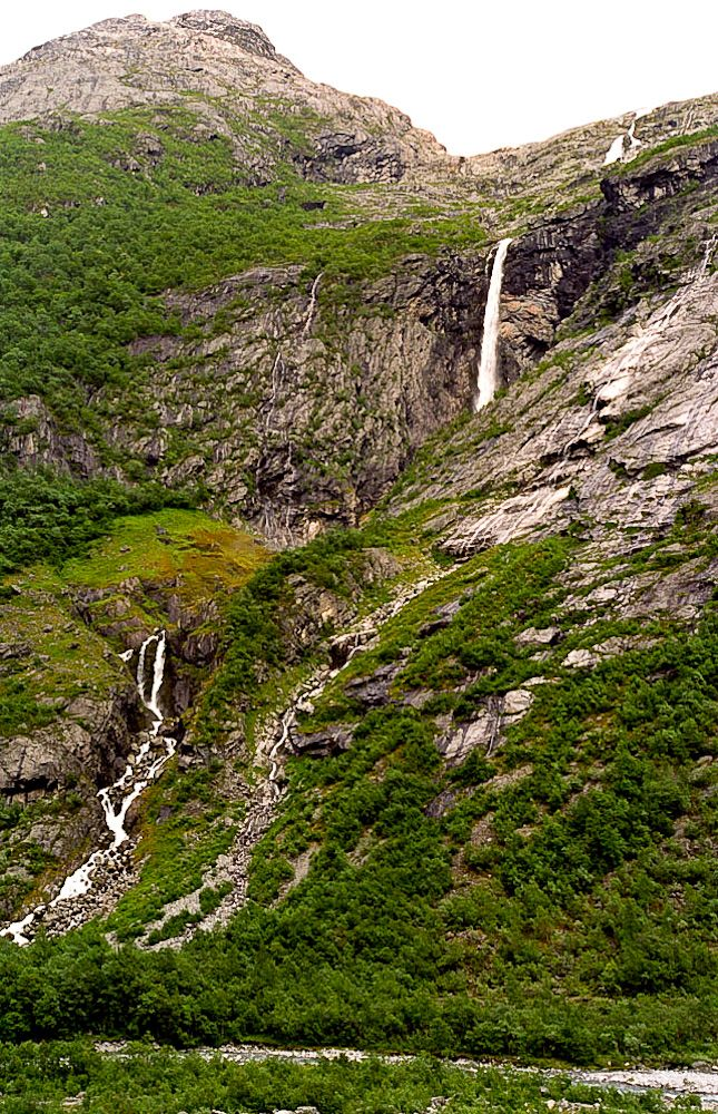 Nr 3 highest waterfall in Europe: Krunefossen in the Kjenndalen, Norway.  Top10 highest waterfalls in Europe: http://www.worldwidewaterfalls.com/top-10-waterfalls/