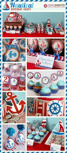 Baños Estilo Nautico:Nautical Baby Shower