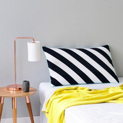 Diagonal Stripe Pillowcase Black
