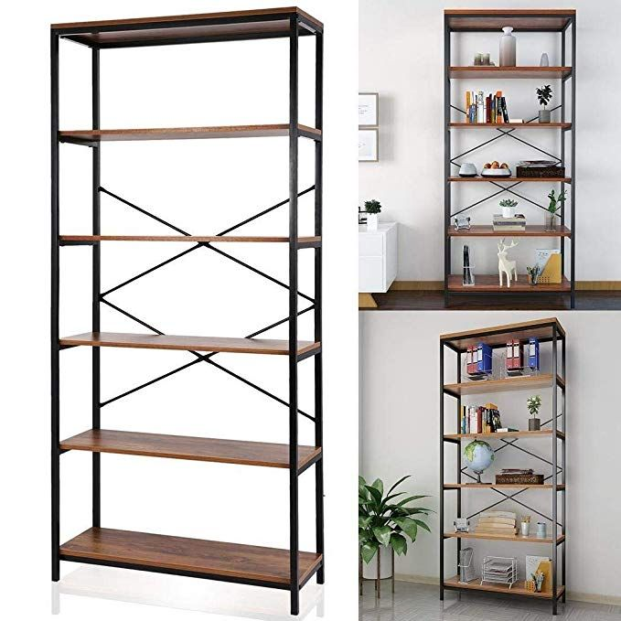 Cosway 5 Shelf Bookcase Wood Bookshelf Tall Bookshelves And Bookcases For Home And Office Organizer Wooden Bookcase Shelves Bookcase Storage