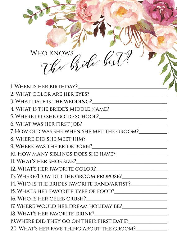 who knows the bride best game bridal shower games who knows the bride best game tea party game 0
