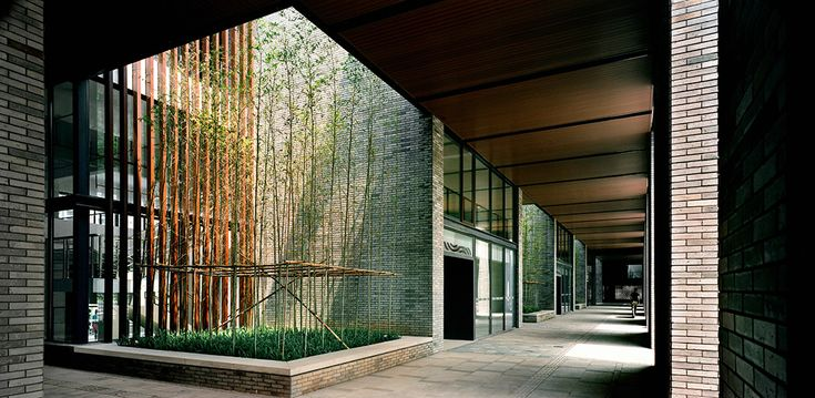 Semi Outdoor Corridor With Atriums That Encourages The