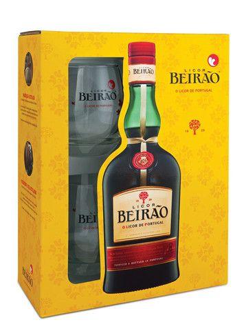 Estojo Licor Beirão com oferta de dois copos. Natal 2015. #licorbeirao #beirao #copo #natal #prendas