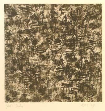"Claude #Gagean ""Taches"", 1989. Aguatinta y punta seca sobre Metal de 20x20 cm., Papel Arches de 250gr de medidas 45.5x31 cm. Ej.: 25 #art #etching"