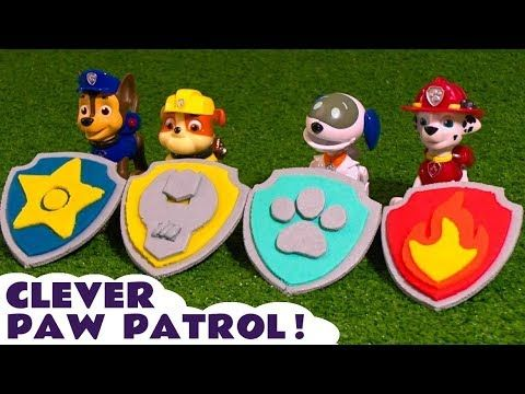 Paw Patrol Play Doh Badges and Logos toy story with Funlings