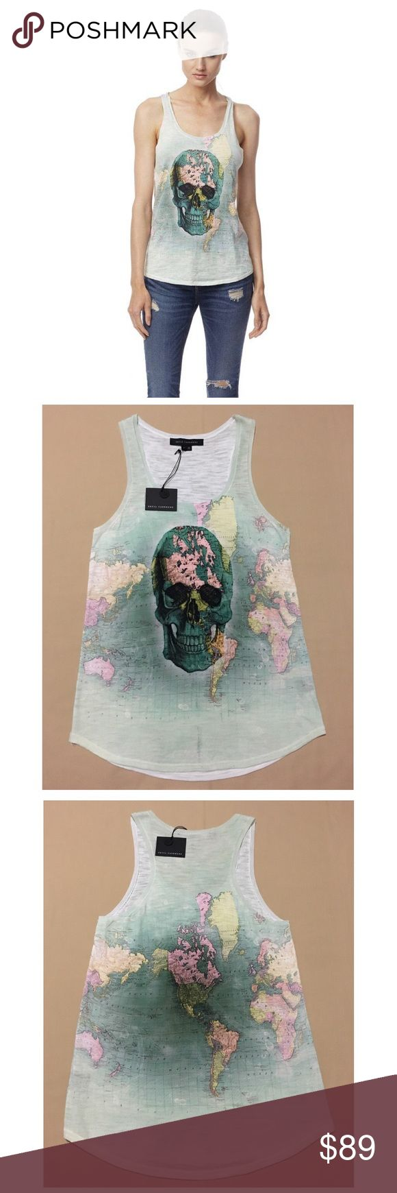 SKULL CASHMERE Justine Tank Top Retail: $196 (NWT) SKULL CASHMERE Justine Tank Top    Semi-sheer racerback tank is adorned with a skull print on the front. Finished with an acid wash effect of Green hues. Scoop neckline. Curved hem.    Limited Edition  • Size - Small  • 100% - Authentic  • Fabric - 100% Cotton  • Color - Multi Color   • Retail - $196  • Fit: True to size. Model is wearing size small.   We Ship Same Day Or Next!  Check Out My Other Items For Exclusives Deals On Clothing…