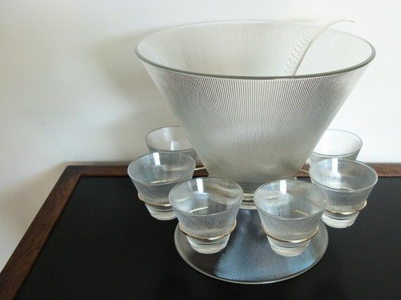 Vintage Mod Punch Bowl by Federal Glass Co  - Scandinavian Modern Style!  - I've got me one!