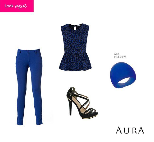 #Azul é uma das cores que estão bombando, perfeita pra quem quer muita segurança e tranquilidade em 2014! (Cod. do #anel: 4359) #reveillon #dica #moda #auraprata