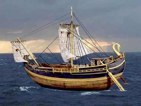 Phoenician ship with swan head
