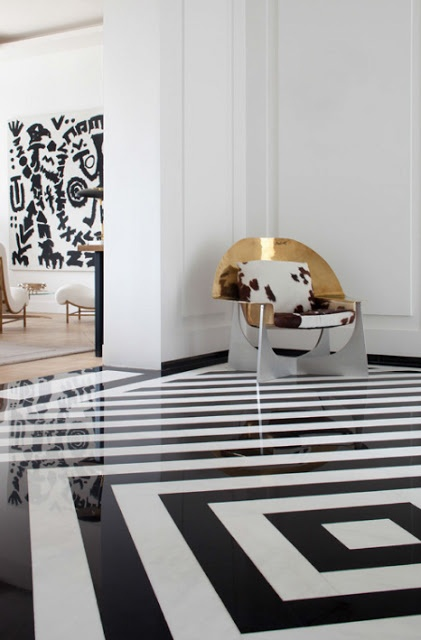 Glam apartment, Paris, by Pierre Yovanovitch