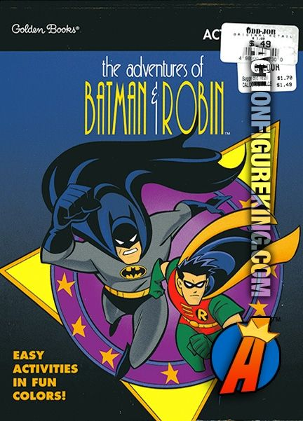The Adventures Of Batman Robin 52 Page Activity Pad From Golden Circa 1997