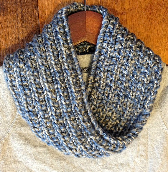 Knitted Cowl Scarf for Little Boy in Blue & by BlueDoveKnits, $25.00