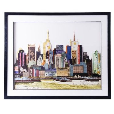 Obraz przestrzenny New York B to przepiękne i barwne ujęcie architektury Nowego Jorku, wyraziste kolory.