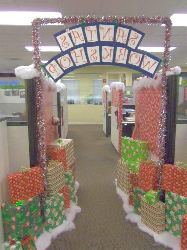 Funny Christmas Cubicle Decorating Ideas Divine Design Decorations