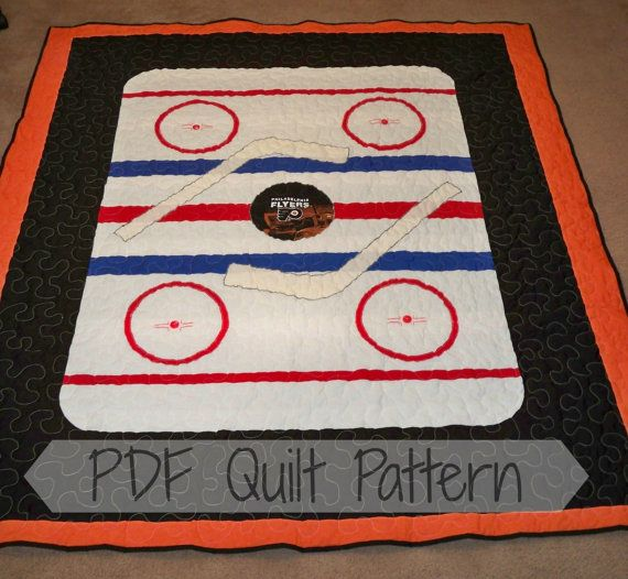 Pdf Quilt Patternthrow Size Hockey Quilt By Littlepatches