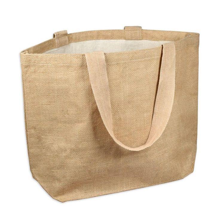Standard Size High Quality Jute Burlap Tote Bag | Daily Jute Tote Bags - TJ895