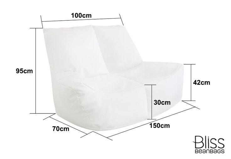 $389 - Two Seater Lounge Bean Bag | Bliss Bean Bags Australia