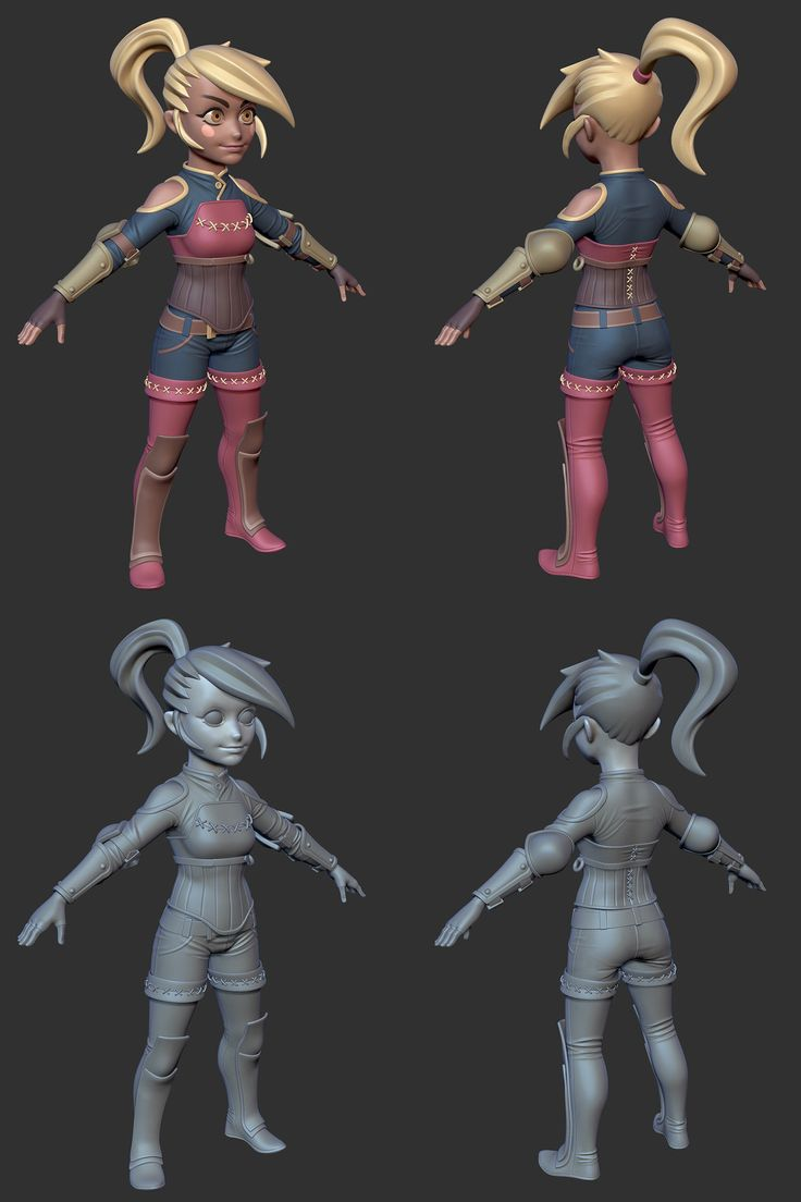 3d Models For Poser And Daz Studio: Chibi Warrior WIP, Xavier Coelho-Kostolny