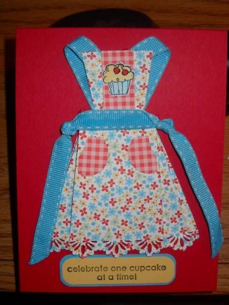 This is an adorable apron card. Never seen one quite like it.