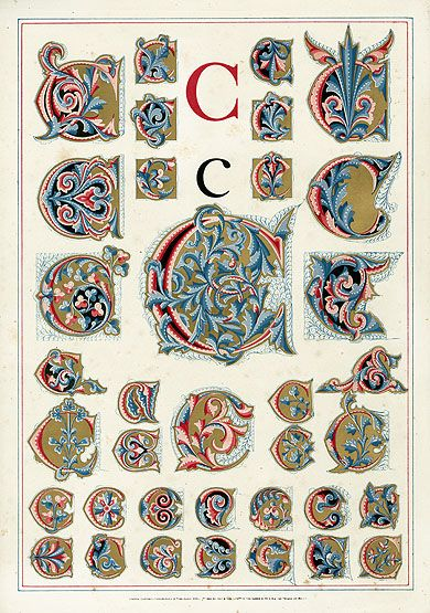 Owen Jones Alphabet 1864/letter C