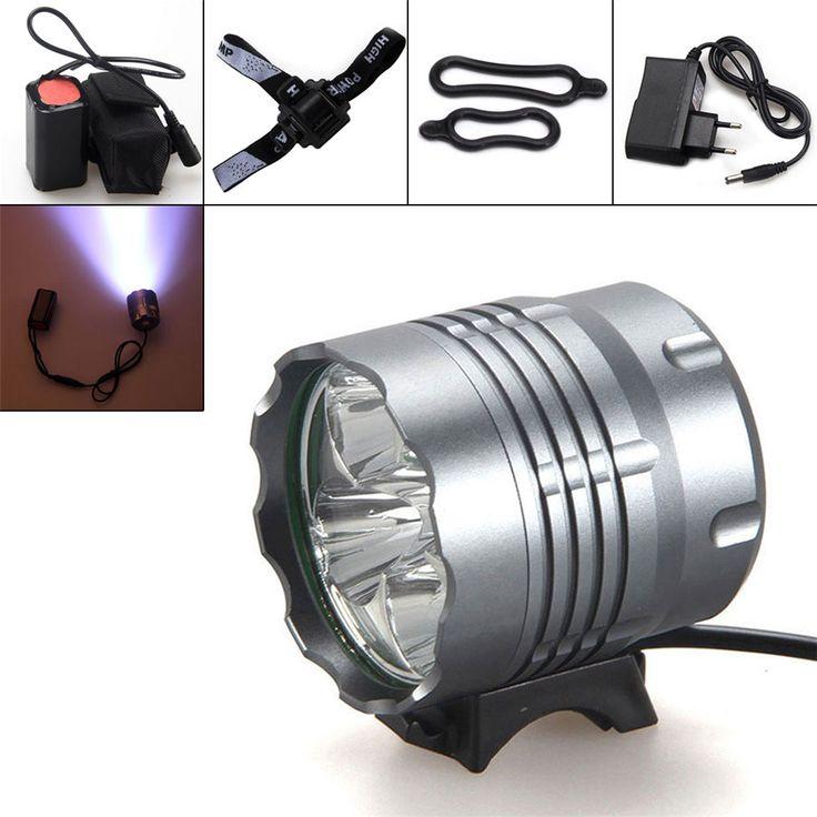 Hot sprzedaży Rowerów Reflektorów Lm 5x XM-L U2 LED Przednie Światła Rowerów Bike Reflektor dla Camping Wędkarstwo Speleo