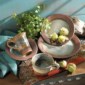 Potter and dinnerware designer Debbie Smith\u0027s Reata dinnerware is a unique combination of texture and color & 10 best Rustic dinnerware images on Pinterest | Dish sets Rustic ...