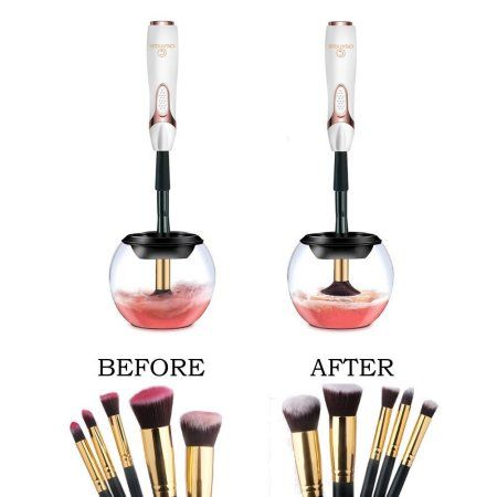 Free Shipping. Buy Makeup Brush Cleaner Machine, Electric Spinning Make up Brush Cleaner and Dryer, Professional Brush Cleaner Kit, Automatic Portable Brush Cleaner Device, Cosmetic Brush Cleaner Tool at Walmart.com