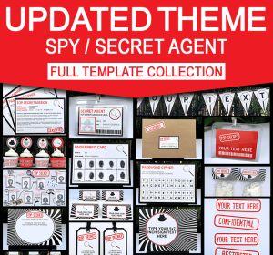 Secret Agent Birthday Party Invitations and Decorations | Spy Party Ideas | Spy Theme Party Printables | James Bond | Secret Codes & Ciphers | Editable templates | INSTANT DOWNLOAD $12.50 via SIMONEmadeit.com