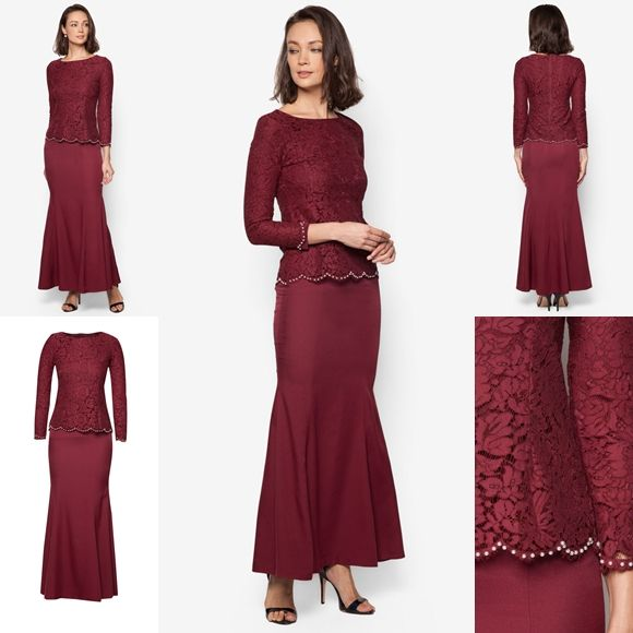 Baju Kurung Moden Lace Minimalis Baju Raya 2016 Fesyen Trend Terkini