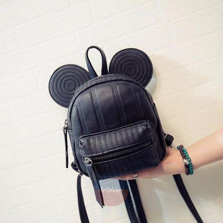 Stylish Mickey Mouse Ears Leather Bag Travel Mini Shoulder Satchel Backpack | eBay