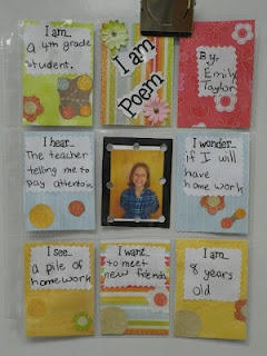 poetry Now I will keep all of my sons trading card sleeves.Poetry United, Trade Cards, Open House, Baseball Cards, Schools Ideas, Languages Art, I Am Poems, Classroom Ideas, Writing Activities